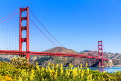Golden Gate Bridge San Francisco from Presidio California Royalty Free Stock Image