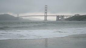 Golden gate bridge in San Francisco, Reise, stock video footage