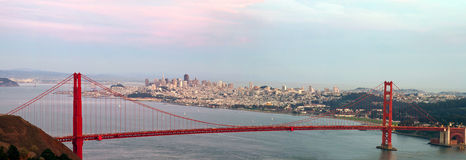 Golden Gate Bridge and San Francisco Skyline Stock Image