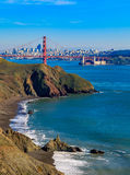 Golden Gate bridge and San Francisco skyline Royalty Free Stock Photography
