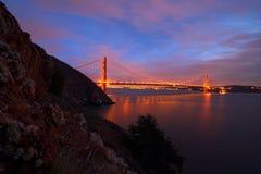 Golden Gate Bridge, San Francisco Skyline, Downtown San Francisc Royalty Free Stock Photos