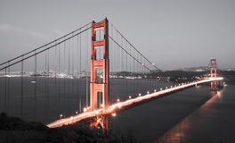 Golden Gate Bridge and San Francisco Skyline Royalty Free Stock Photo