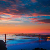 Golden gate bridge San Francisco soluppgång Kalifornien Royaltyfri Fotografi