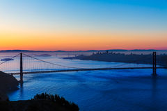Golden gate bridge San Francisco soluppgång Kalifornien Royaltyfri Foto