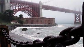 Golden gate bridge, San Francisco (Steden) stock footage