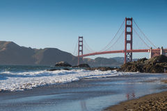 Golden Gate Bridge in San Francisco. Golden Gate Bridge, San Francisco in Summer day. View from Baker Beach Stock Image
