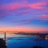 Golden Gate Bridge San Francisco sunrise California Royalty Free Stock Photography