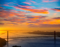 Golden Gate Bridge San Francisco sunrise California Stock Photo