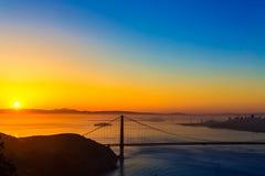 Golden Gate Bridge San Francisco sunrise California Royalty Free Stock Photos
