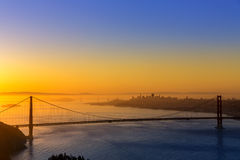 Golden Gate Bridge San Francisco sunrise California Royalty Free Stock Images