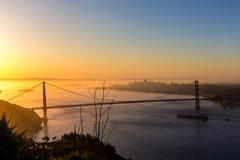 Golden Gate Bridge San Francisco sunrise California Stock Photography