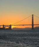 Golden Gate Bridge, San Francisco sunset Royalty Free Stock Images