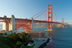 The Golden Gate Bridge in San Francisco sunset Royalty Free Stock Photo