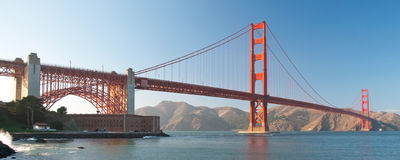 The Golden Gate Bridge in San Francisco sunset Royalty Free Stock Image