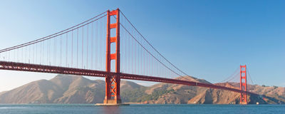 The Golden Gate Bridge in San Francisco sunset Royalty Free Stock Photos