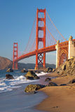 The Golden Gate Bridge in San Francisco sunset Stock Photo