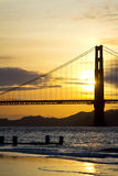 Golden Gate Bridge in San Francisco Stock Photos