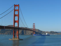 Golden Gate Bridge in San Francisco. The Golden Gate suspension bridge spanning the Golden Gate strait channel between San Francisco Bay and the Pacific Ocean Royalty Free Stock Photography