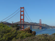 Golden Gate Bridge in San Francisco. The Golden Gate suspension bridge spanning the Golden Gate strait channel between San Francisco Bay and the Pacific Ocean Royalty Free Stock Photos