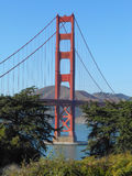 Golden Gate Bridge in San Francisco. The Golden Gate suspension bridge spanning the Golden Gate strait channel between San Francisco Bay and the Pacific Ocean Stock Photo