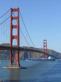 Golden Gate Bridge in San Francisco. The Golden Gate suspension bridge spanning the Golden Gate strait channel between San Francisco Bay and the Pacific Ocean Stock Photos