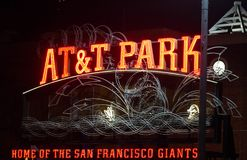 AT&T Park Home of the San Francisco Giants stock photography