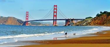 Golden Gate Bridge, San Francisco, United States. A view of Golden Gate Bridge from Baker Beach in San Francisco, United States royalty free stock photos