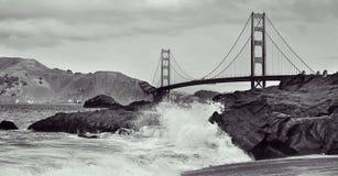 Golden Gate Bridge, San Francisco, United States. A view of Golden Gate Bridge from Baker Beach in San Francisco, United States royalty free stock images