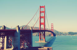 Golden Gate Bridge, San Francisco, United States. View of Golden Gate Bridge, San Francisco, United States Royalty Free Stock Images