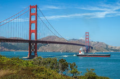 The Golden Gate Bridge in San Francisco, USA. Die Golden Gate Bridge in San Francisco, Kalifornien, USA Stock Images
