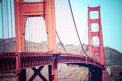 Golden Gate Bridge, San Francisco. Royalty Free Stock Image