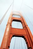 The Golden Gate bridge, San Francisco, USA. The Golden Gate bridge in a a foggy day Stock Photos