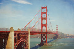 Golden Gate Bridge, San Francisco, USA. Retro filter effect Stock Images
