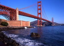 Golden Gate bridge, San Francisco, USA. Royalty Free Stock Photos