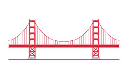 Golden Gate Bridge, San Francisco, USA. Vector illustration. Stock Photos