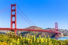 Golden gate bridge San Francisco van Presidio Californië royalty-vrije stock afbeelding