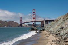 The Golden Gate Bridge, San Francisco. A view of the Golden Gate Bridge from the beach in San Francisco Royalty Free Stock Photo