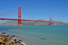 Golden Gate Bridge in San Francisco. View of the Golden Gate Bridge in a perfect sunny day Royalty Free Stock Image