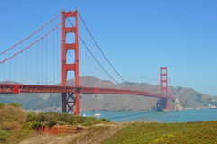 Golden Gate Bridge in San Francisco. View of the Golden Gate Bridge in a perfect sunny day Royalty Free Stock Photography