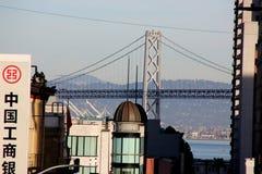 Golden Gate Bridge, San Fransisco, Kalifornia, usa, widok od Chinatown Fotografia Stock