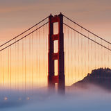 Golden Gate Bridge, San Fransisco, usa Zdjęcie Stock