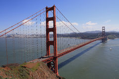 Golden Gate Bridge from Sausalito Hills. USA, San Francisco- Golden Gate Bridge from Sausalito Hills Stock Photo