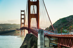 Golden gate bridge Schwarzweiss Lizenzfreie Stockbilder