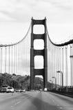 Golden gate bridge in Schwarzweiss, Kalifornien Stockbilder