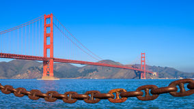 Golden Gate Bridge. Seen from Crissy Field, San Francisco Royalty Free Stock Photography