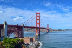 The Golden Gate Bridge Seen From Fort Point, San Francisco, California stock image