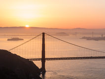 Golden Gate Bridge, SFO Stock Image