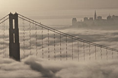 Golden Gate Bridge. Shot from the Marin Headlands over looking San Francisco Stock Photography