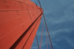 Golden gate bridge in the sky Stock Photography