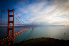 Golden gate bridge-Sluiting Januari 2015 Royalty-vrije Stock Foto